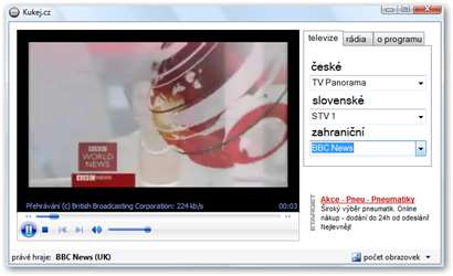 Kukej: nadějný program pro sledování televize a rádia – Živě cz